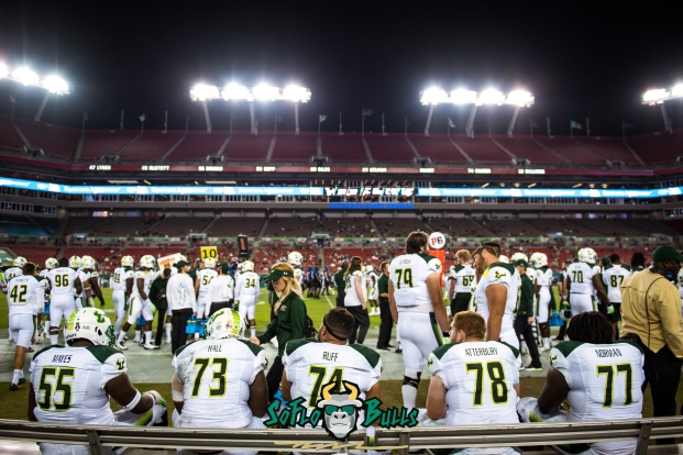 140 - Tulsa vs. USF 2017 - USF OL Cameron Ruff Jeremi Hall Billy Atterbury Eric Mayes Marcus Norman by Dennis Akers | SoFloBulls.com (5519x3684)