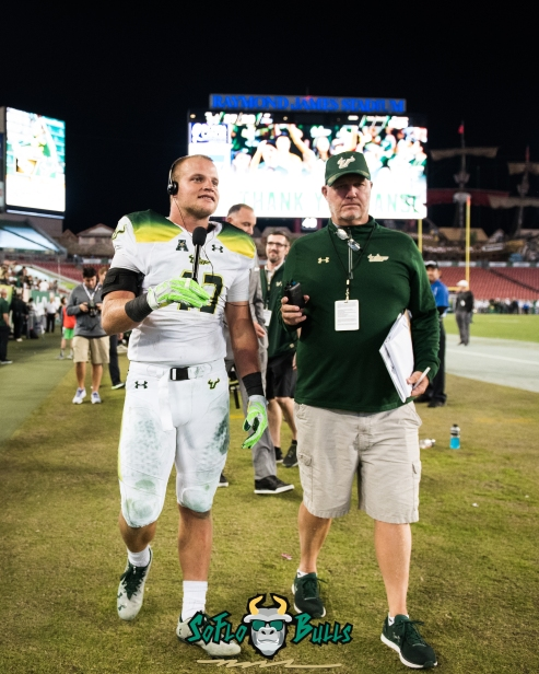 166 - Tulsa vs. USF 2017 - USF LB Auggie Sanchez Post-Game Interview by Dennis Akers | SoFloBulls.com (3115x3894)