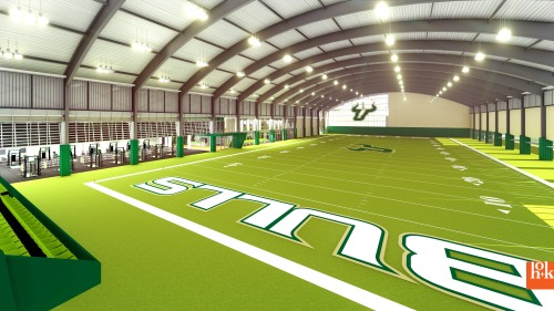 USF Football Center Rendering Indoor Practice Facility IPF Image - SoFloBulls.com (3840x2160)